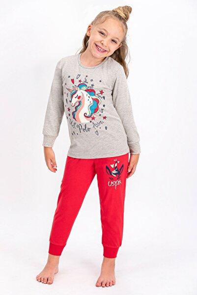 U.S. Polo Assn. U.S. Polo Assn Lisanslı Bejmelanj Kız Çocuk Pijama Takımı