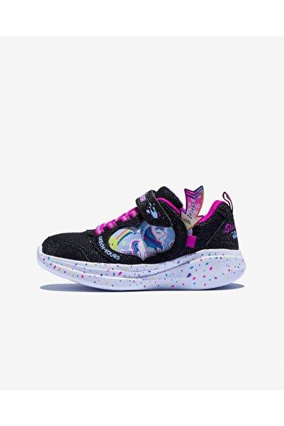 SKECHERS Kız Çocuk Siyah Desenli Ayakkabı