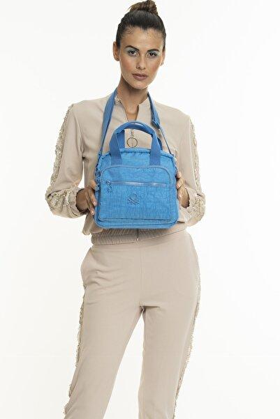 United Colors of Benetton Kadın Mavi El Çantası  Bnt220