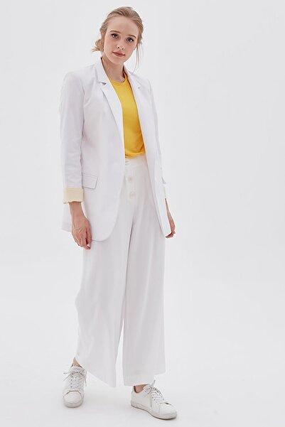 Kayra Kadın Beyaz   Pantolon