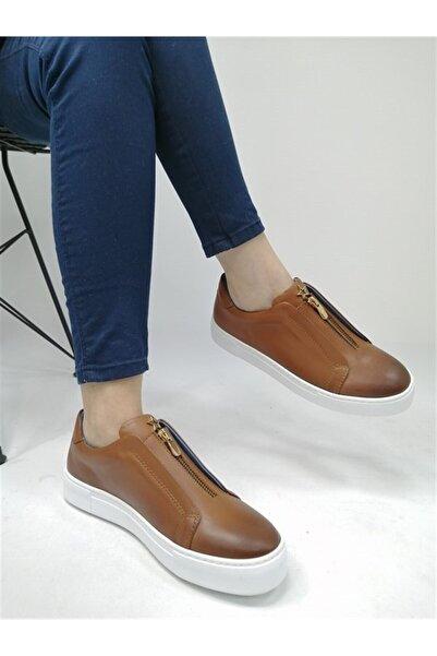 BALLERIN'S Kadın Taba Deri El Yapımı Spor Ayakkabı Blrs-259
