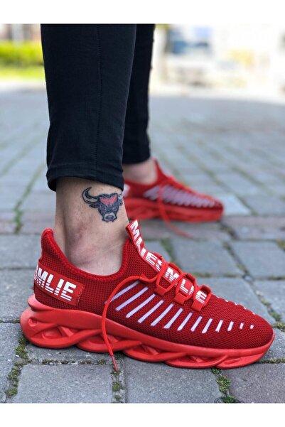 Boaondana Erkek Kırmızı Phantom Yüksek Taban Tarz Sneakers Ba0602
