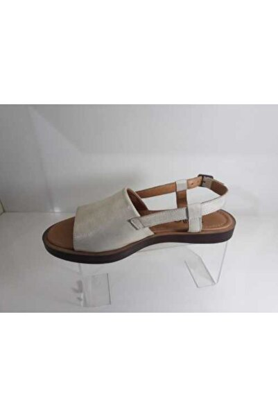 Bella Kadın Altın Deri Sandalet
