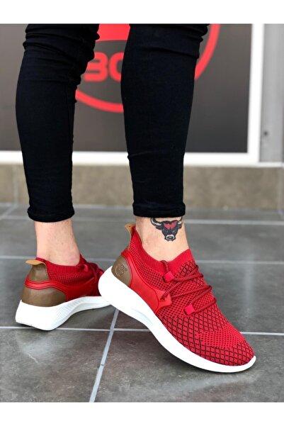Boaondana Erkek Kırmızı Fly Rahat Yüksek Taban Spor Ayakkabı Ba0001