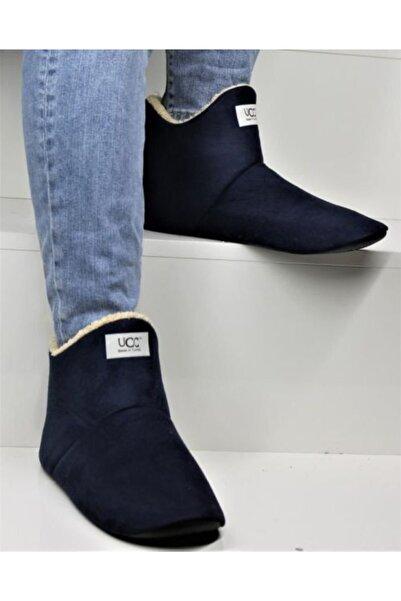 Forza Erkek Lacivert Panduf Pelüş Ev Ayakkabısı