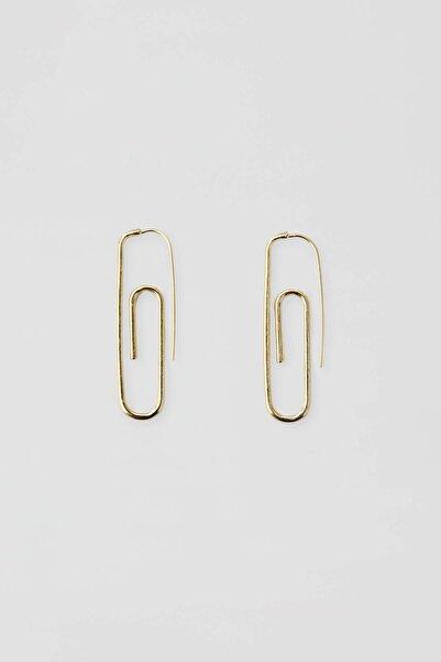 Pull & Bear Kadın Altın Rengi Altın Rengi Ataç Küpe 09996374