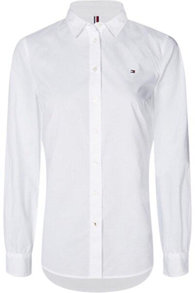 Tommy Hilfiger Kadın Beyaz Lacıe Shırt Ls W2 Gömlek