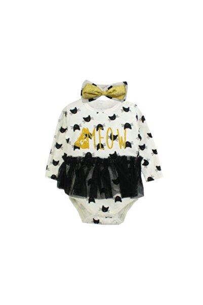 İmaj Kız Bebek Krem  Uzun Kollu Body Set 2'li