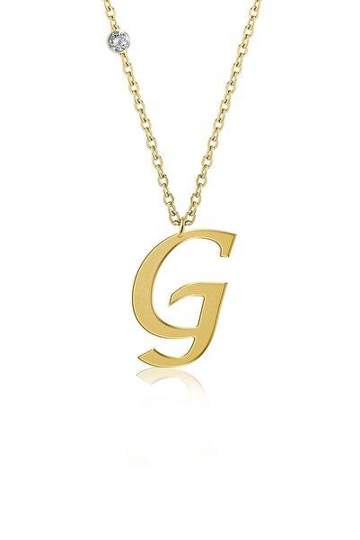 Demas Gold Pırlanta 14 Ayar Altın G Harfi Kolyelik