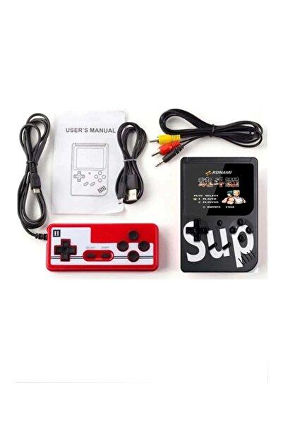 SUP Siyah Çift Kol 400 Nostalji Oyunlu Mini Atari Gameboy - Gamebox Oyun Konsolu