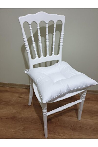 ALTINPAMUK Pofidik Beyaz Sandalye Minderi