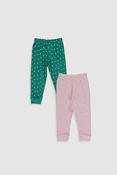 LC Waikiki Kız Bebek Açık Yeşil Baskı Lrf Pijama Altı