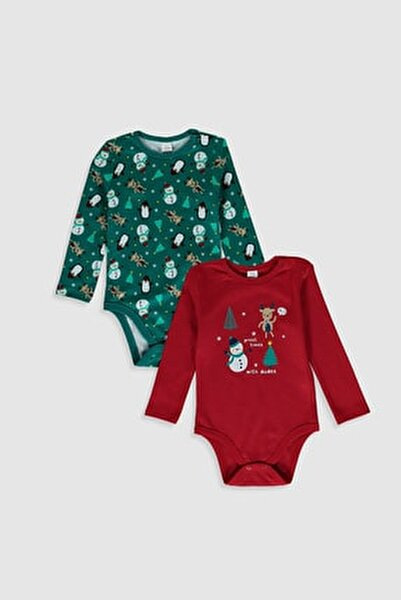 Erkek Bebek Canlı Kırmızı Hc3 Bebek Body & Zıbın