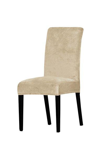 abeltrade Bej Rengi Sandalye Kılıfı 6'lı