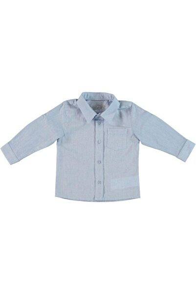 Monna Rosa Erkek Çocuk Mavi Gömlek
