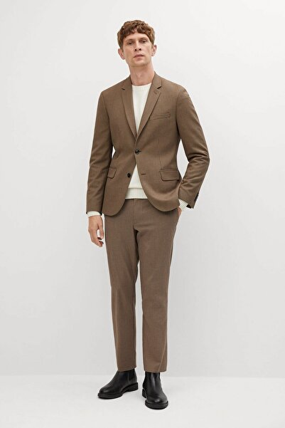 MANGO Man Erkek Bej Pantolon
