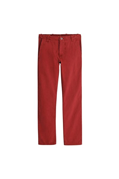 Dockers Erkek Kırmızı Alpha Washed Khaki Pantolon
