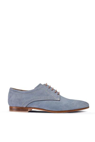 Deery Kadın Buz  Mavisi Hakiki Nubuk Günlük Ayakkabı