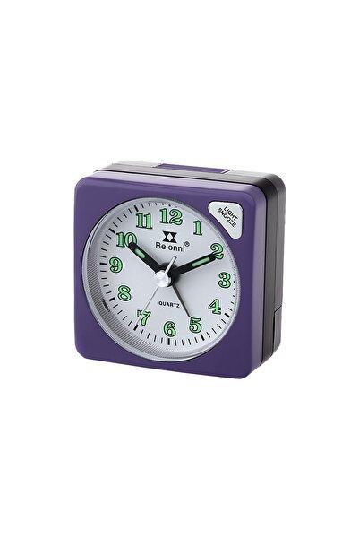 Belonni Collection Mor Alarmlı Masa Saati Bc212.pu