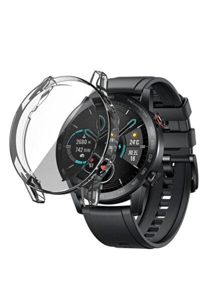 Revix Şeffaf Honor Watch Magic 2 46 mm 360 Koruma Ultra İnce Silikon Kılıf