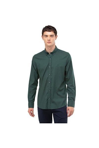 Nautica Nautıca Erkek Yeşil Slım Fıt Ekose Gömlek