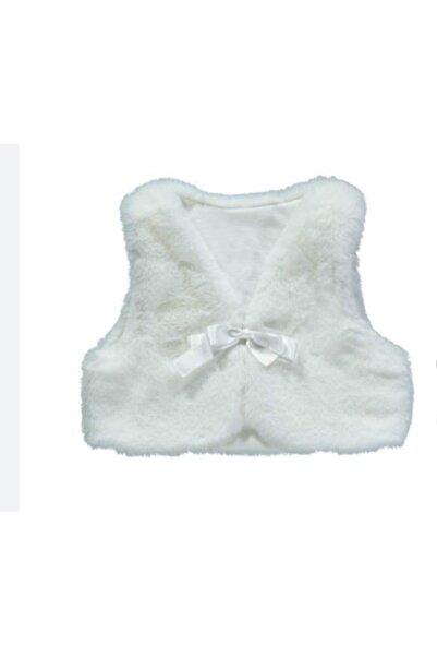 Bebetto Kız Bebek Beyaz Peluş Yelek