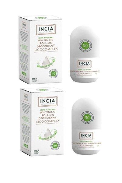 Incia Whitening Beyazlatıcı Doğal Roll-on Deodorant 50 Ml X2 Adet