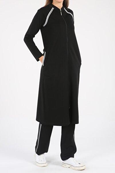 ALLDAY Kadın Siyah Şeritli Uzun Eşofman Takımı