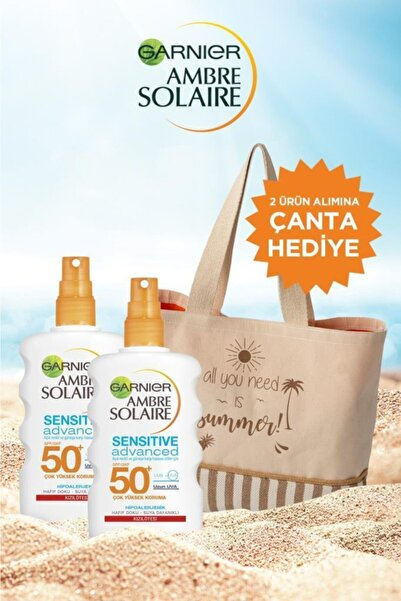 Garnier Ambre Solaire Sensitive Advanced Koruyucu Sprey Gkf50+ 200ml 2'li Set