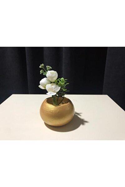BY NURAY YİĞİT Taş Tekli Hem Mumluk Hem Yapay Çiçek Saksısı
