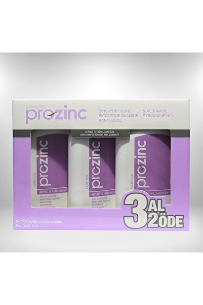 Prozinc 3 X 300 ml Normal ve Yağlı Saçlar Için Şampuan 8697581240738