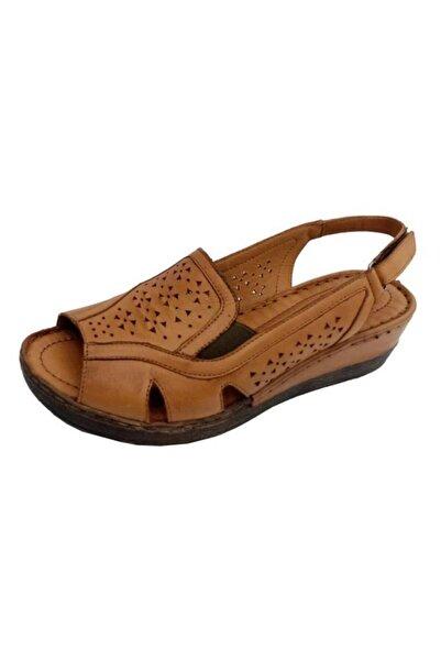 Nehir Kadın Taba Hakiki Deri Sandalet 102