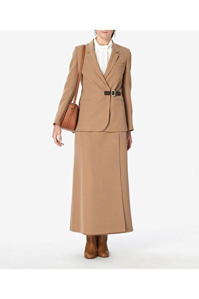 Aker Kadın Kahverengi Kemerli Ceket S53618215