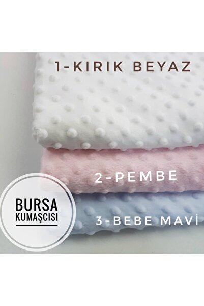 Bursa Kumaşçısı Minky Kumaş (nohut Battaniye Kumaşı) Açık Krem