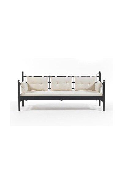Vivense Siyah Lalas Dks Metal Sofa Sedir 90x200 cm