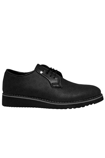 CONTEYNER Erkek Siyah Suni Deri Casual Ayakkabı