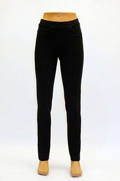 Otto Kadın Siyah 5 Cepli Yan Küpür Şeritli Tayt Pantolon
