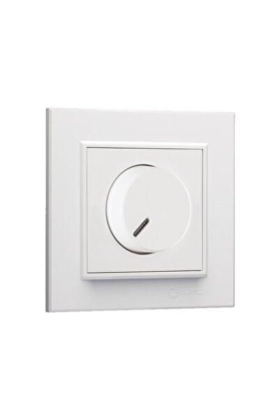 MAKEL Karea Beyaz Dimmer Anahtar+tekli Çerçeve