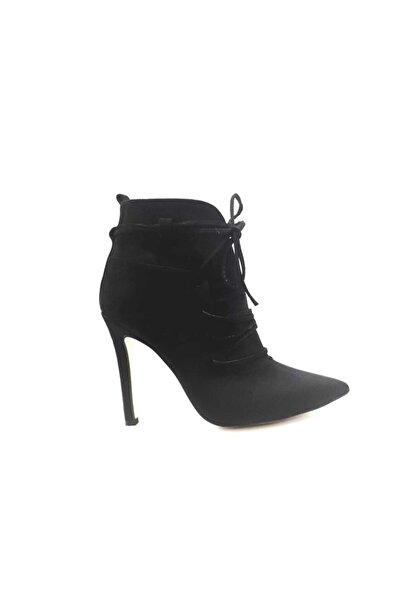 PUNTO Kadın Siyah Sivri Topuk Bot 670202