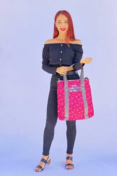 Replay Kadın Pembe Tek Bölmeli Desenli Omuz Çanta