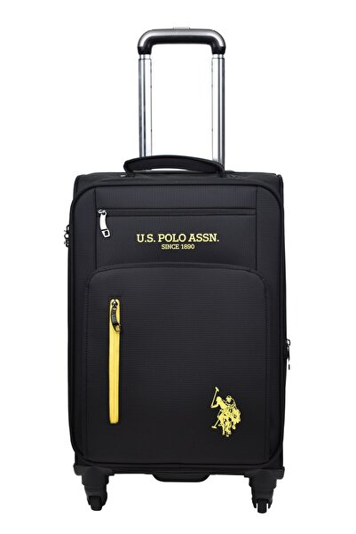 U.S. Polo Assn. Valiz Kabin Boy Siyah Kumaş Valiz 9015