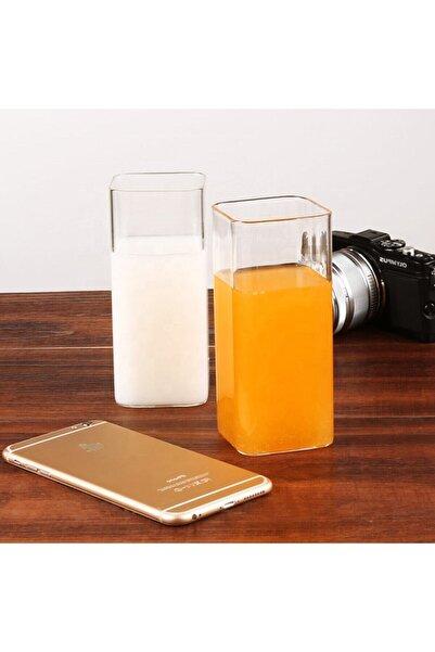Vip&House Dikdörtgen Isıya Dayanıklı Borosilikat Trend Meyve Suyu Tatlı Bardağı (2 Adet 300 Ml 12 Cm)