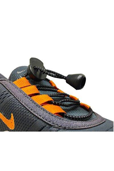 LUCKY Siyah Akıllı Kilitli Elastik Ayakkabı Bağcık 100 Cm
