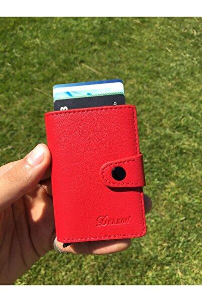 DERKON Hakiki Deri Kibar Mekanizmalı Kartlık &cüzdan