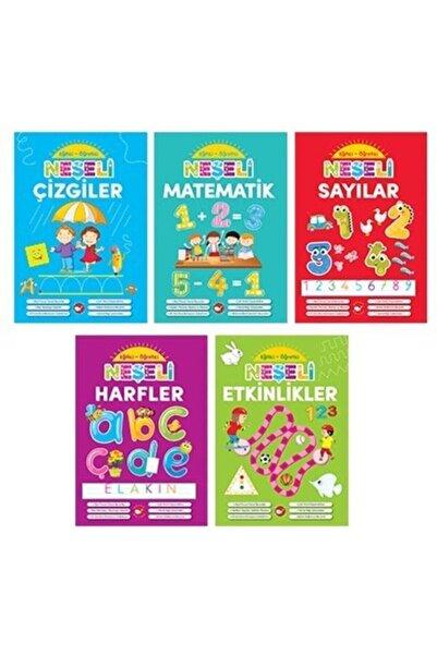 Beyaz Balina Yayınları Okul Öncesi Neşeli Eğitici Öğretici Etkinlikler Matematik Sayılar Çizgiler 5'li Set