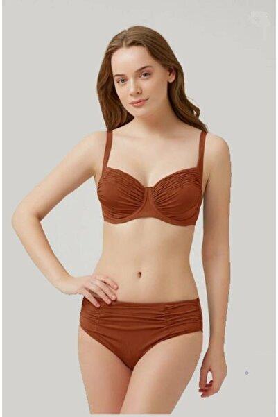 Kom Kapsız Telli Arella Drapeli Toparlayıcı Bikini