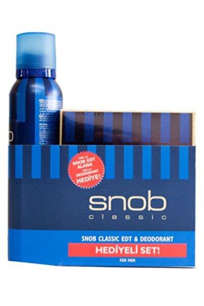 Snob Classıc Edt 100ml Deodorant 150ml Erkek Parfüm Seti 8690644015717