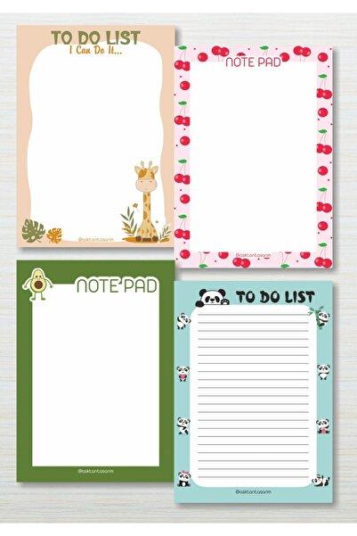 Aşktan Basım Hizmetleri Aşktan Basım 4lü Note Pad Bloknot 10x14 Cm