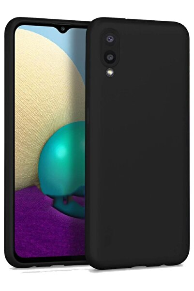 Samsung Galaxy A02 Soft Yüzeyli Yıkanabilir Siyah Renkli Arka Kapak