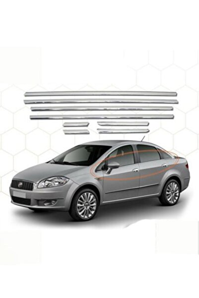 darwish Fiat Linea Uyumlu Cam Çıtası 8 Parça Paslanmaz Çelik 2007-